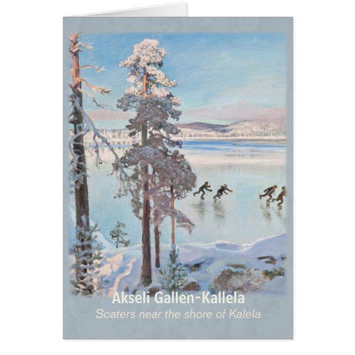 Gallen-Kallela Kalela Scaters Luistelijat CC0813 Greeting Card