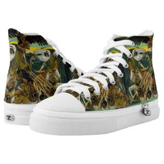 """Gallen-Kallela's """"Defense"""" art shoes"""