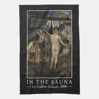 Gallen-Kallela's Sauna hand towel
