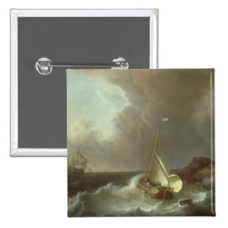 Galleon in Stormy Seas Buttons