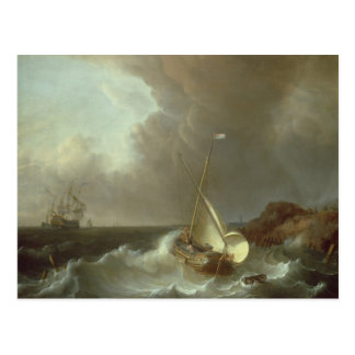 Galleon in Stormy Seas Postcard