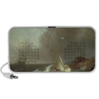 Galleon in Stormy Seas Notebook Speaker