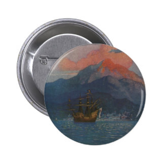 Galleon on the Spanish Main Pinback Button