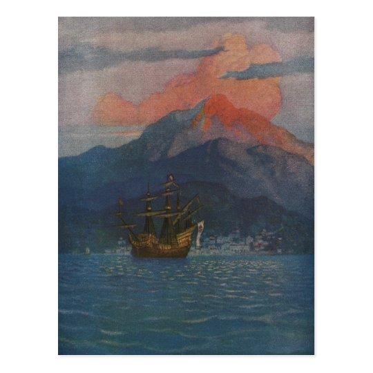 Galleon on the Spanish Main Postcard