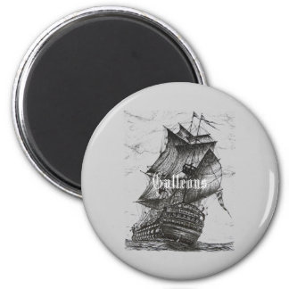 Galleon pen and ink drawing refrigerator magnet