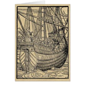 Galleon Sailing Ship Card
