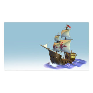 Galleon ship business card