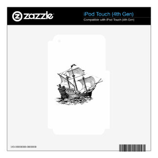 Galleon Ship Decal For iPod Touch 4G