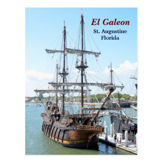 Galleon Ship Postcard