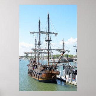 Galleon Ship Print