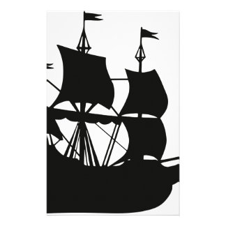 Galleon Ship Silhouette Stationery