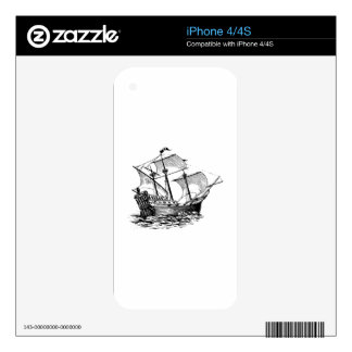 Galleon Ship Skin For iPhone 4S