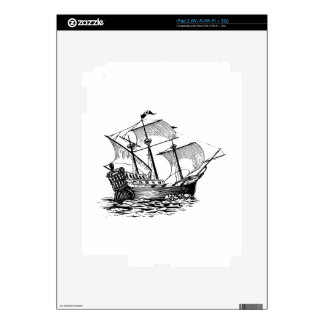 Galleon Ship Skin For The iPad 2