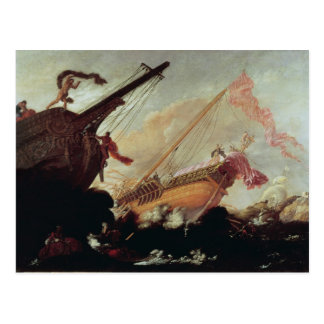 Galleons arruinó en una orilla rocosa postales
