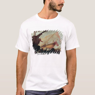 Galleons wrecked on a rocky shore T-Shirt