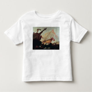 Galleons wrecked on a rocky shore toddler t-shirt