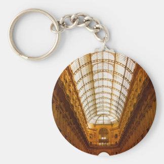 Galleria Vittorio Emanuele II In Milan Basic Round Button Keychain