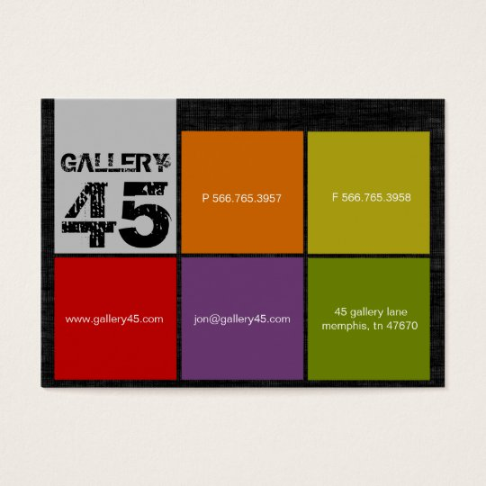 Gallery 45 Chubby Business Cards