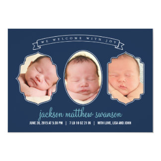 Gallery Frames Birth Announcements - Blue