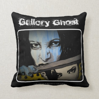 'Gallery Ghost' (Throw) American MoJo Pillow