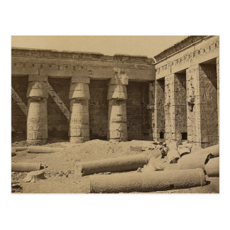 Gallery in second court of Thutmose I at Medinet Postcard