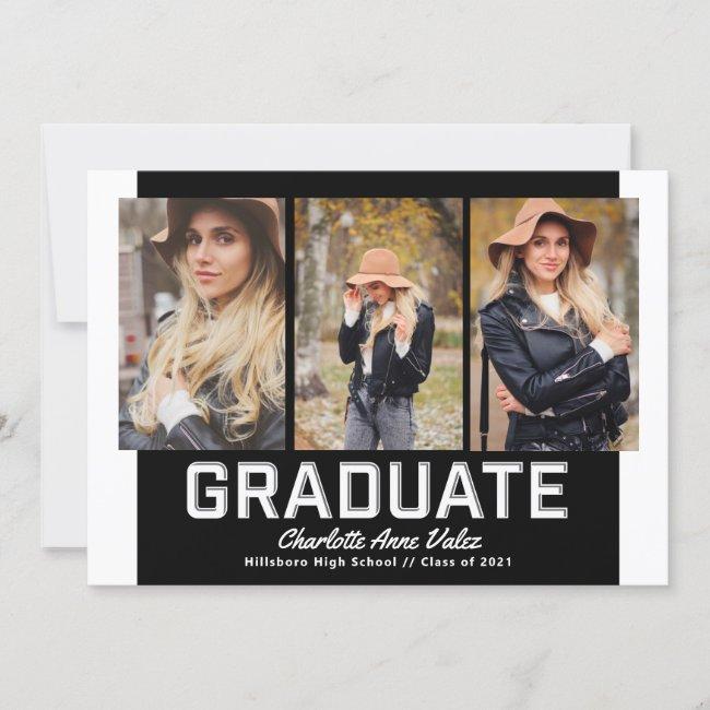 Gallery Multi Photo Beveled Graduate Invitation