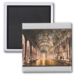 Gallery of Mirrors, Versailles, France vintage Pho 2 Inch Square Magnet