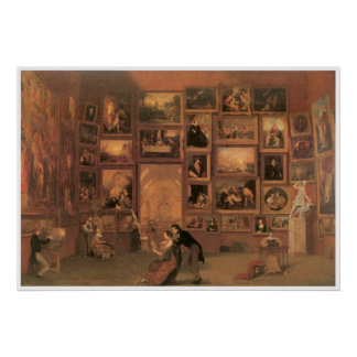 Gallery of the Louvre 1831-33 Poster