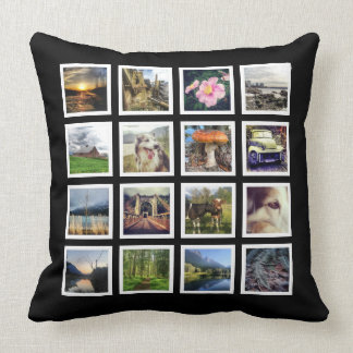 Gallery Style Double Sided Instagram Photo Display Throw Pillow