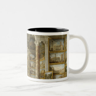 Gallery with Views of Modern Rome, 1759 Two-Tone Coffee Mug