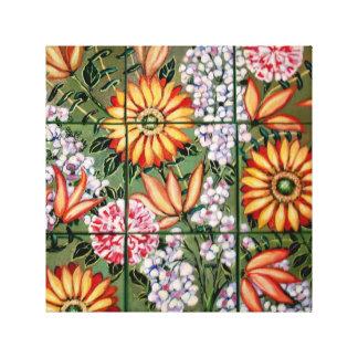 Gallery Wrap Canvas  Floral Crazy Daisies