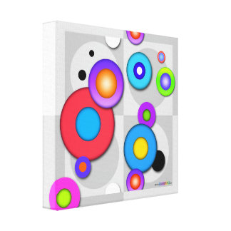 Gallery Wrap CANVAS PRINT of Pop Art CIRCLES