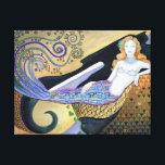 """Gallery Wrapped Canvas Print<br><div class=""""desc"""">art nouveau mermaid</div>"""