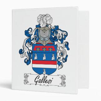 Gallesi Family Crest 3 Ring Binder