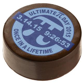 Galleta 2015 del chocolate del día del pi 3.14.15
