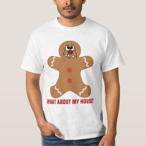 Galleta asustadiza del hombre de pan de jengibre playera