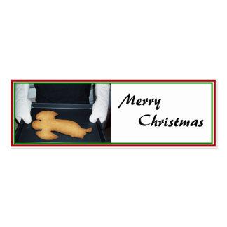 Galleta cocida fresca del ángel del navidad tarjetas de visita mini