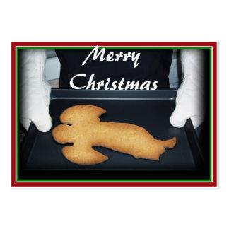Galleta cocida fresca del ángel del navidad tarjetas de visita grandes
