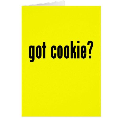 ¿galleta conseguida? tarjeta de felicitación