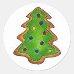 Galleta de azúcar del árbol de navidad pegatina