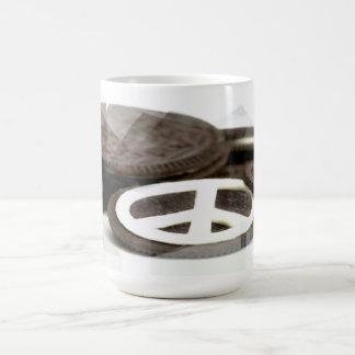 Galleta de la paz tazas de café