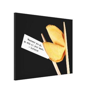 Galleta de la suerte de Confucio Impresiones En Lona Estiradas