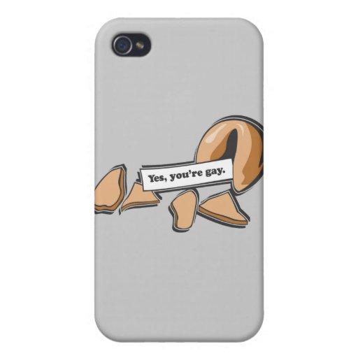 Galleta de la suerte - usted es gay iPhone 4/4S carcasa
