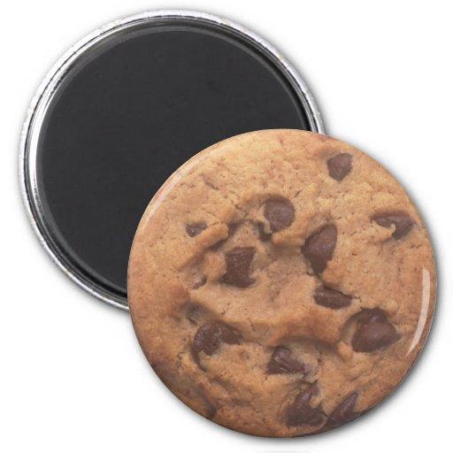 Galleta de microprocesador de chocolate imán redondo 5 cm
