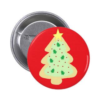 Galleta del árbol de navidad pin