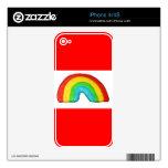 Galleta del arco iris calcomanías para iPhone 4