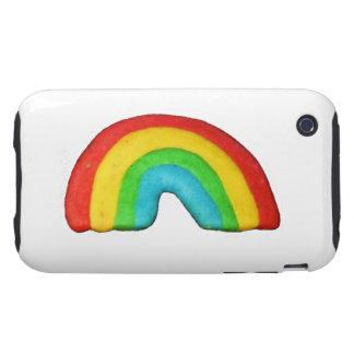 Galleta del arco iris iPhone 3 tough fundas