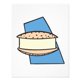 galleta del bocadillo del helado del microprocesad invitaciones personales