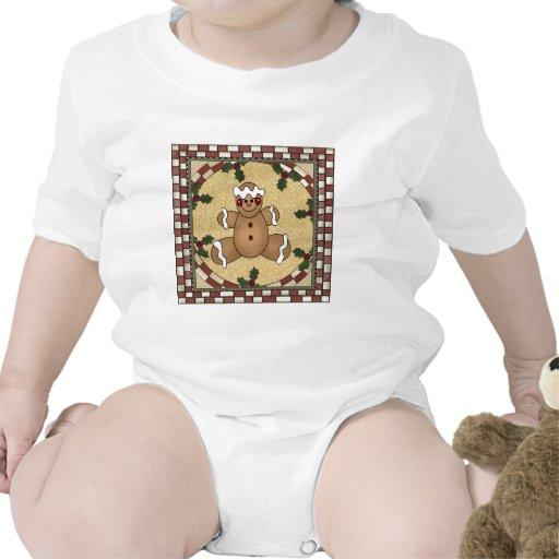 Galleta del hombre de pan de jengibre trajes de bebé