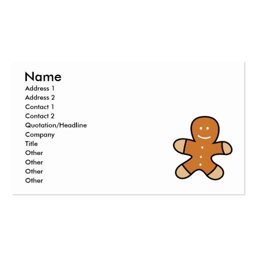 Galleta del hombre de pan de jengibre tarjetas de visita